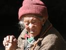 Nepalesische alte Frau